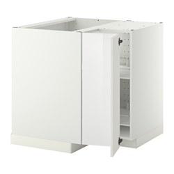 METOD - corner base cabinet with carousel, white/Ringhult white   IKEA 香港及澳門 - PE357236_S3