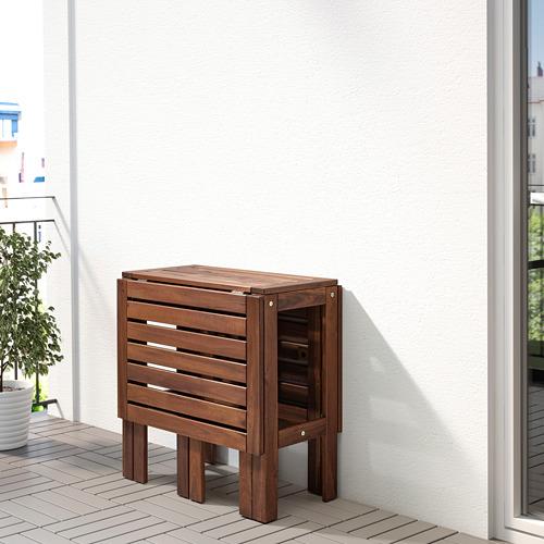 ÄPPLARÖ - gateleg table, outdoor, brown stained   IKEA Hong Kong and Macau - PE767735_S4
