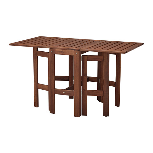 ÄPPLARÖ - gateleg table, outdoor, brown stained   IKEA Hong Kong and Macau - PE767734_S4