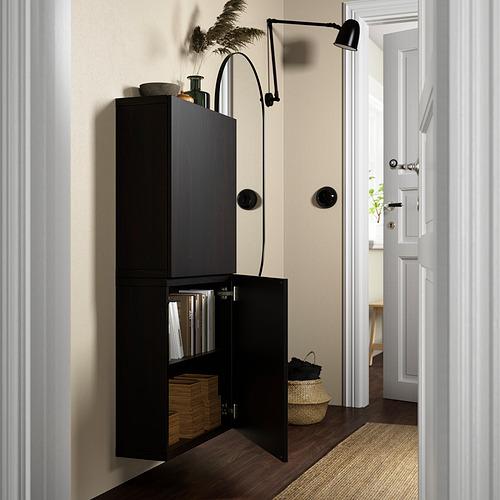 BESTÅ - 雙門吊櫃, black-brown/Lappviken black-brown   IKEA 香港及澳門 - PE824075_S4