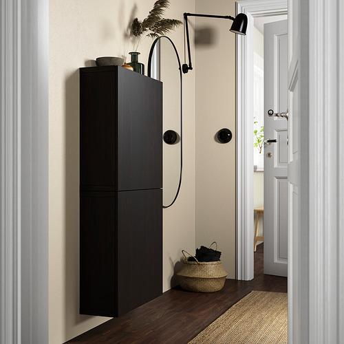 BESTÅ - 雙門吊櫃, black-brown/Lappviken black-brown   IKEA 香港及澳門 - PE824111_S4