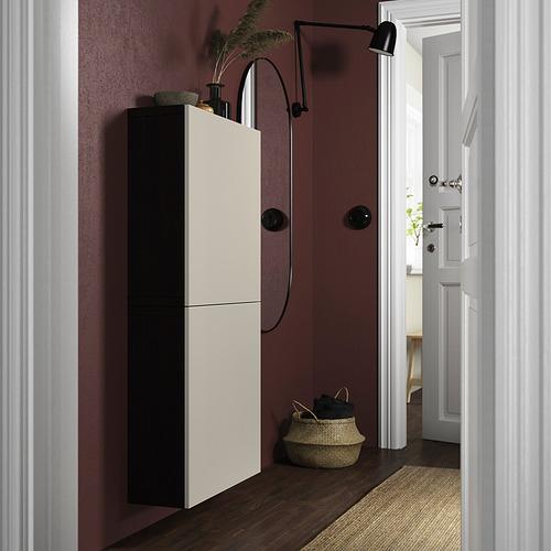 BESTÅ - 雙門吊櫃, black-brown/Lappviken light grey-beige | IKEA 香港及澳門 - PE824132_S4