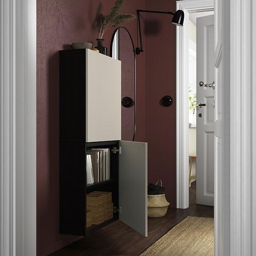 BESTÅ - 雙門吊櫃, black-brown/Lappviken light grey-beige | IKEA 香港及澳門 - PE824077_S4