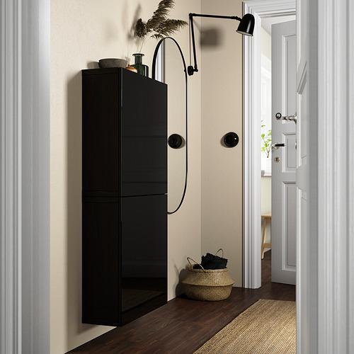 BESTÅ - 雙門吊櫃, black-brown/Selsviken high-gloss/black | IKEA 香港及澳門 - PE824102_S4