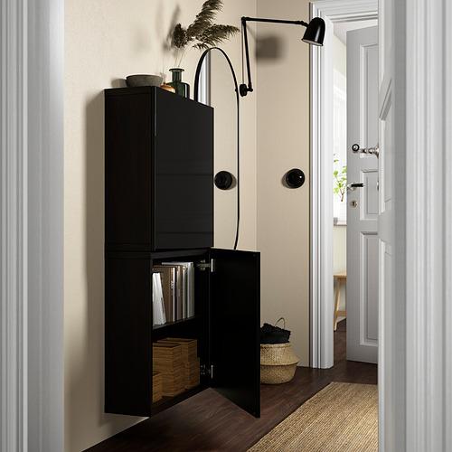 BESTÅ - 雙門吊櫃, black-brown/Selsviken high-gloss/black | IKEA 香港及澳門 - PE824080_S4