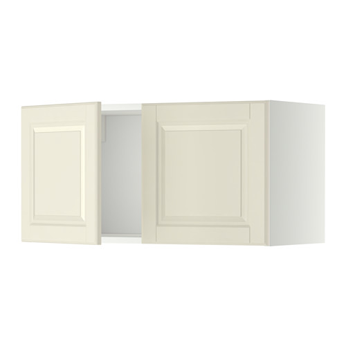 METOD - wall cabinet with 2 doors, white/Bodbyn off-white | IKEA Hong Kong and Macau - PE357302_S4