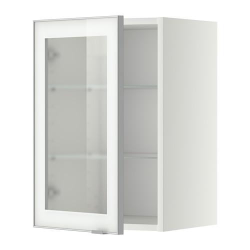 METOD - wall cabinet w shelves/glass door, white/Jutis frosted glass | IKEA Hong Kong and Macau - PE352359_S4