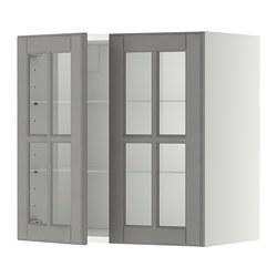 METOD - 吊櫃連層板/1對玻璃門, white/Bodbyn grey | IKEA 香港及澳門 - PE353492_S3