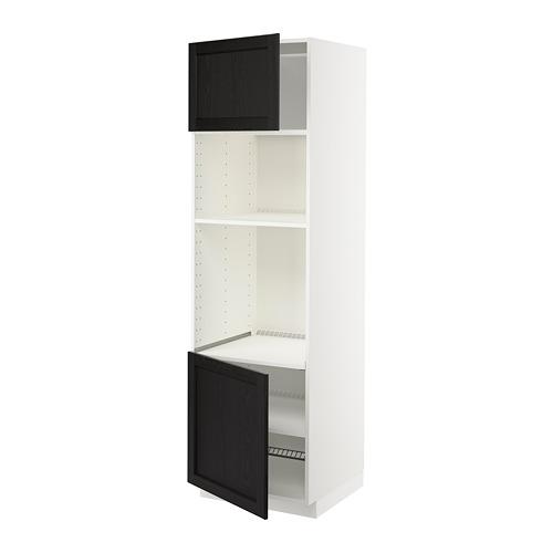 METOD - hi cb f oven/micro w 2 drs/shelves, white/Lerhyttan black stained   IKEA 香港及澳門 - PE678578_S4