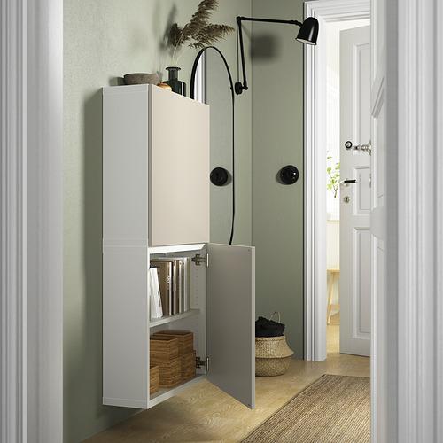 BESTÅ - 雙門吊櫃, white/Lappviken light grey-beige | IKEA 香港及澳門 - PE824092_S4