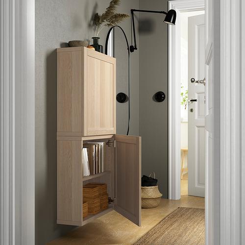 BESTÅ - 雙門吊櫃, white stained oak effect/Hanviken white stained oak effect   IKEA 香港及澳門 - PE824098_S4