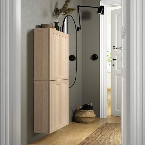 BESTÅ - 雙門吊櫃, white stained oak effect/Hanviken white stained oak effect   IKEA 香港及澳門 - PE824099_S4