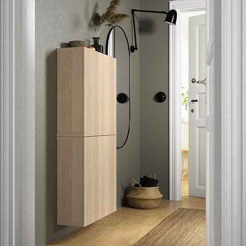 BESTÅ - 雙門吊櫃, white stained oak effect/Lappviken white stained oak effect | IKEA 香港及澳門 - PE824126_S4