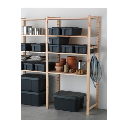 KLÄMTARE - 室內/戶外連蓋箱, 深灰色 | IKEA 香港及澳門 - PE564174_S4