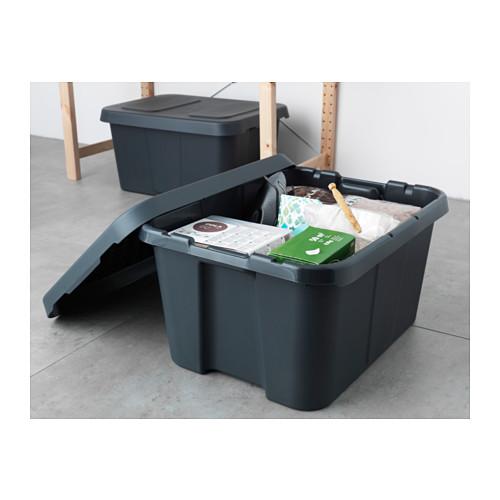 KLÄMTARE - 室內/戶外連蓋箱, 深灰色 | IKEA 香港及澳門 - PE564175_S4