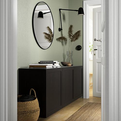 BESTÅ - 上牆式貯物組合, black-brown/Hanviken black-brown   IKEA 香港及澳門 - PE824153_S4
