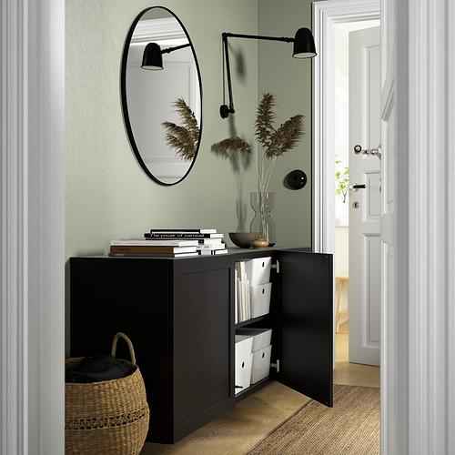 BESTÅ - 上牆式貯物組合, black-brown/Hanviken black-brown   IKEA 香港及澳門 - PE824206_S4