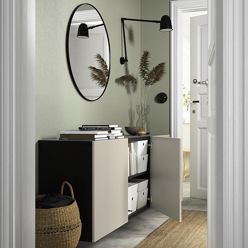 BESTÅ - 上牆式貯物組合, black-brown/Lappviken light grey-beige   IKEA 香港及澳門 - PE824191_S4