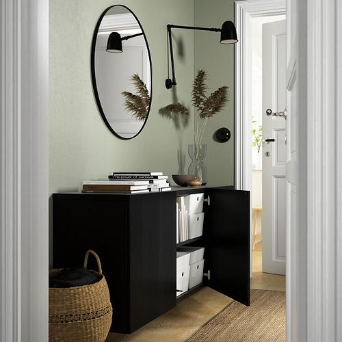 BESTÅ - 上牆式貯物組合, black-brown/Timmerviken black | IKEA 香港及澳門 - PE824204_S4