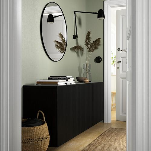 BESTÅ - 上牆式貯物組合, black-brown/Timmerviken black | IKEA 香港及澳門 - PE824163_S4