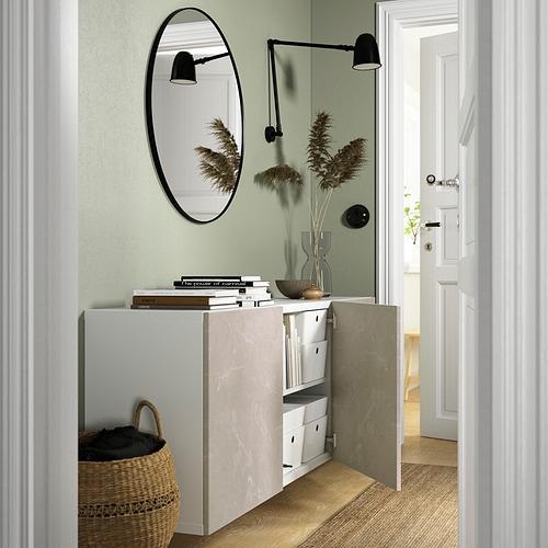 BESTÅ - 上牆式貯物組合, white Bergsviken/beige marble effect   IKEA 香港及澳門 - PE824198_S4