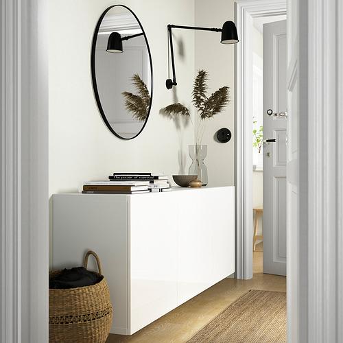 BESTÅ - 上牆式貯物組合, white/Selsviken high-gloss/white | IKEA 香港及澳門 - PE824218_S4