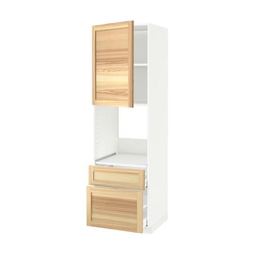 METOD/MAXIMERA - high cabinet f oven+door/2 drawers, white/Torhamn ash | IKEA Hong Kong and Macau - PE564214_S4
