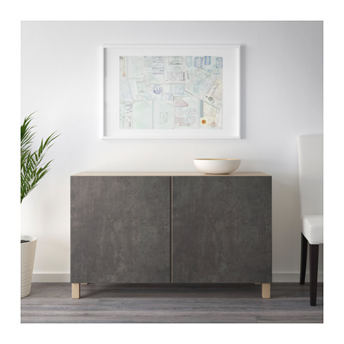 BESTÅ - 貯物組合連門, 染白橡木紋 Kallviken/深灰色 仿混凝土 | IKEA 香港及澳門 - PE631007_S4