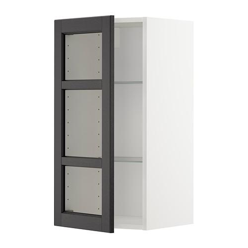 METOD - wall cabinet w shelves/glass door, white/Lerhyttan black stained | IKEA Hong Kong and Macau - PE679162_S4