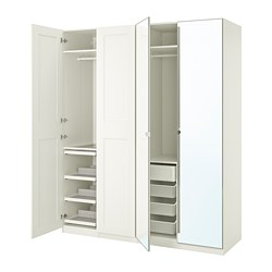 PAX/GRIMO/VIKEDAL - wardrobe combination, white/mirror glass | IKEA Hong Kong and Macau - PE767991_S3
