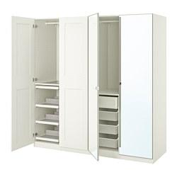 PAX/GRIMO/VIKEDAL - 衣櫃組合, white/mirror glass | IKEA 香港及澳門 - PE767994_S3