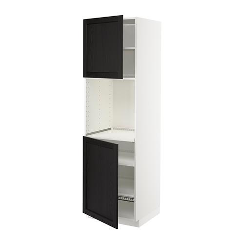METOD - high cab f oven w 2 doors/shelves, white/Lerhyttan black stained | IKEA Hong Kong and Macau - PE679173_S4
