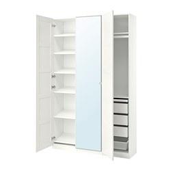 PAX/BERGSBO/VIKEDAL - 衣櫃組合, 白色/鏡面玻璃 | IKEA 香港及澳門 - PE768052_S3