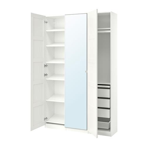PAX/BERGSBO/VIKEDAL - 衣櫃組合, 白色/鏡面玻璃 | IKEA 香港及澳門 - PE768052_S4