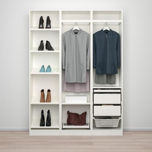 PAX/BERGSBO/VIKEDAL - 衣櫃組合, white/mirror glass | IKEA 香港及澳門 - PE768053_S4