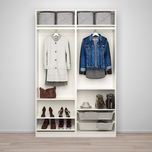 PAX/AULI - wardrobe combination, white/mirror glass | IKEA Hong Kong and Macau - PE768062_S4