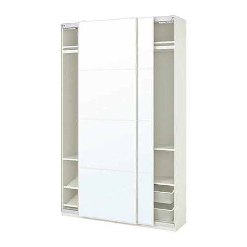 PAX/AULI - wardrobe combination, white/mirror glass | IKEA Hong Kong and Macau - PE768063_S4