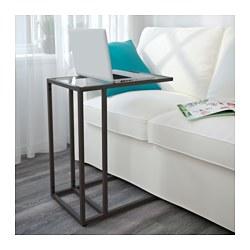 VITTSJÖ - 電腦檯, 35x55x65 cm, 棕黑色/玻璃 | IKEA 香港及澳門 - PE564652_S3