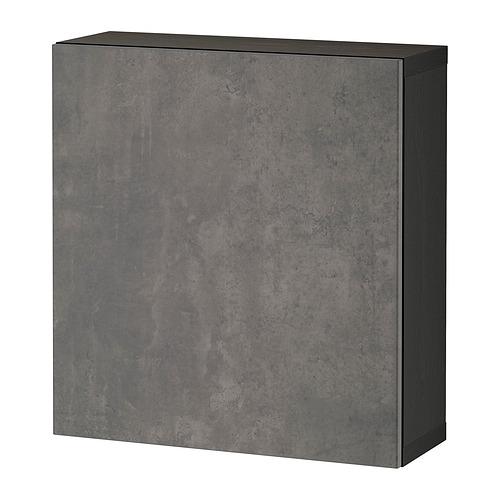 BESTÅ - 上牆式貯物組合, black-brown/Kallviken dark grey   IKEA 香港及澳門 - PE824362_S4