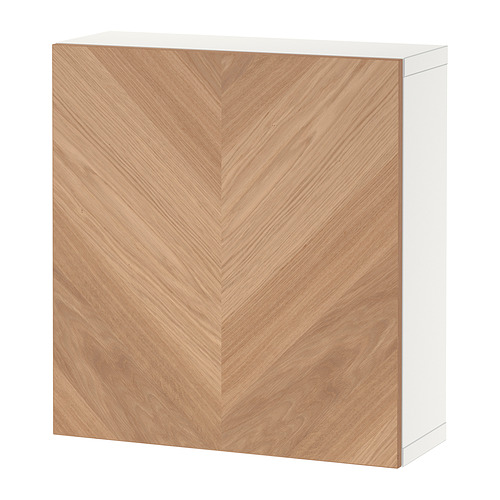 BESTÅ - 上牆式貯物組合, white/Hedeviken oak veneer | IKEA 香港及澳門 - PE824365_S4