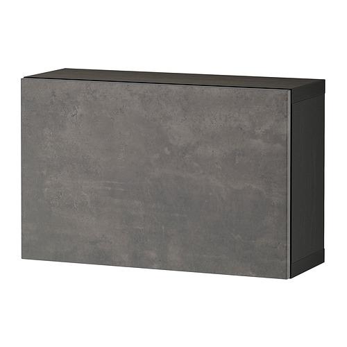 BESTÅ - 層架組合連門, black-brown/Kallviken dark grey | IKEA 香港及澳門 - PE824373_S4
