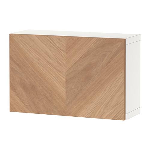 BESTÅ - shelf unit with door, white/Hedeviken oak veneer | IKEA Hong Kong and Macau - PE824376_S4