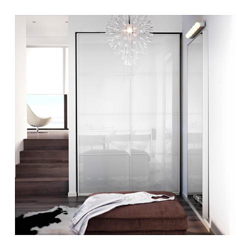 FÄRVIK - 一對趟門, 白色玻璃   IKEA 香港及澳門 - PE406632_S4