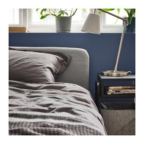 LUKTJASMIN - 被套枕袋套裝, 深灰色, 150x200/50x80 cm  | IKEA 香港及澳門 - PH165827_S4