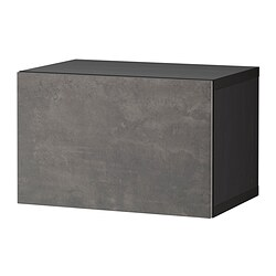 BESTÅ - shelf unit with door, black-brown/Kallviken dark grey | IKEA Hong Kong and Macau - PE824408_S3