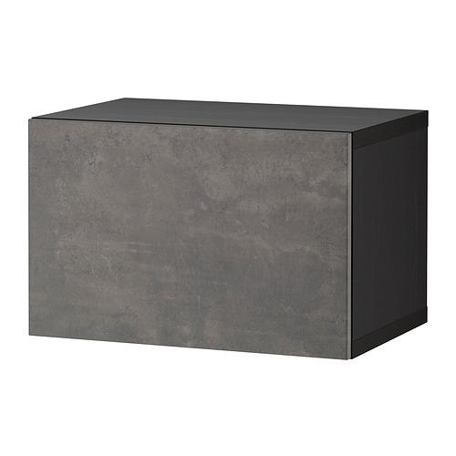 BESTÅ - shelf unit with door, black-brown/Kallviken dark grey   IKEA Hong Kong and Macau - PE824408_S4