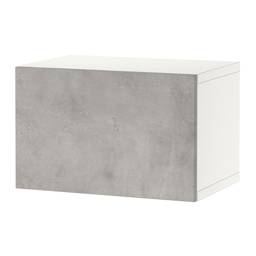 BESTÅ - 上牆式貯物組合, white Kallviken/light grey concrete effect | IKEA 香港及澳門 - PE824416_S4