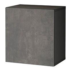 BESTÅ - 上牆式貯物組合, black-brown Kallviken/dark grey concrete effect | IKEA 香港及澳門 - PE824427_S3