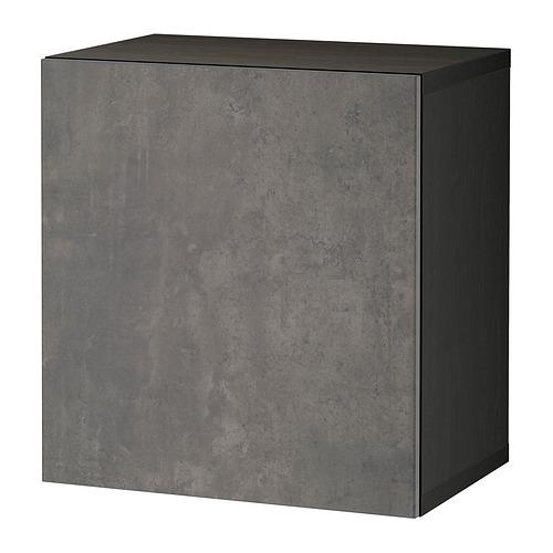 BESTÅ - 上牆式貯物組合, black-brown Kallviken/dark grey concrete effect | IKEA 香港及澳門 - PE824427_S4