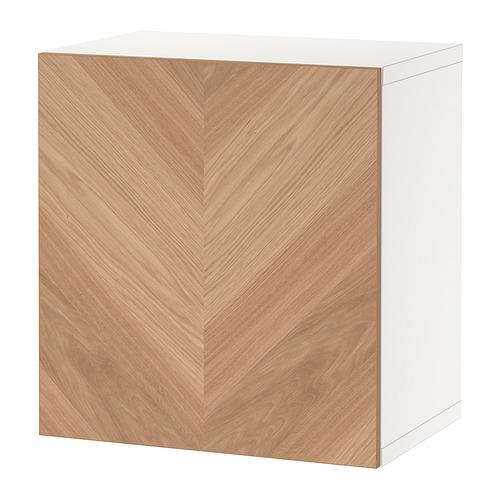 BESTÅ - 層架組合連門, white/Hedeviken oak veneer | IKEA 香港及澳門 - PE824421_S4